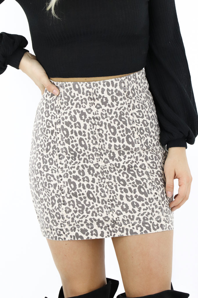 Fell For You Leopard Skirt