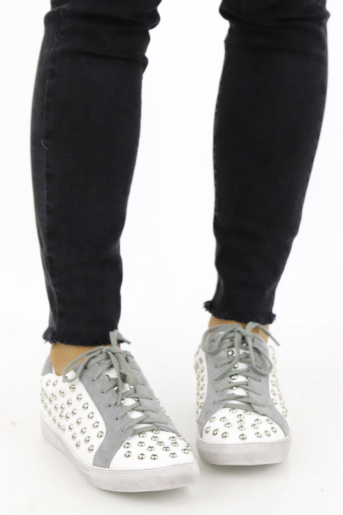 Edgy Looks Studded Sneakers