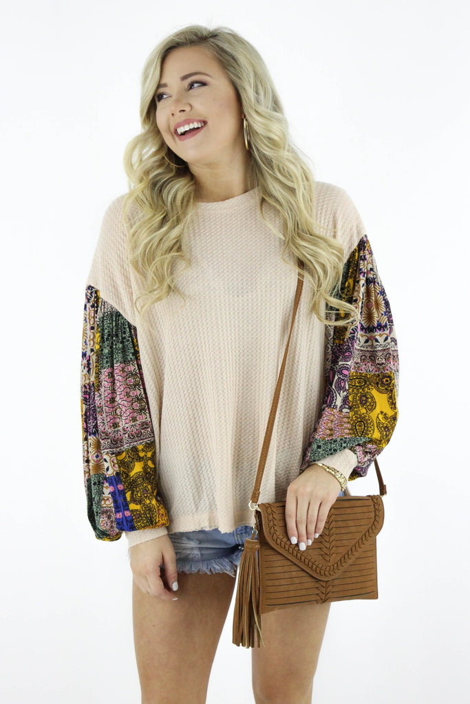Think About Me Waffle Knit Top