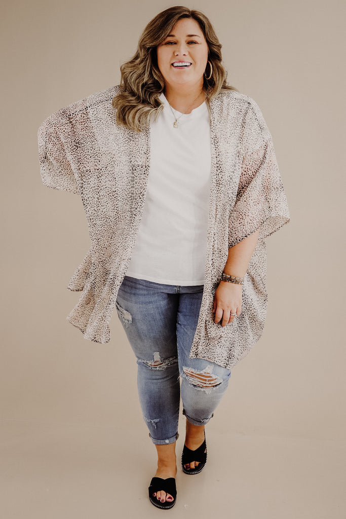 CURVY: Sweeter Than Your Heart Printed Kimono