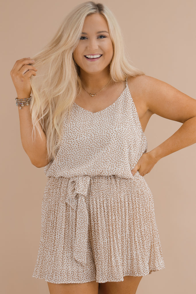 CURVY: Met By Accident Pleated Romper
