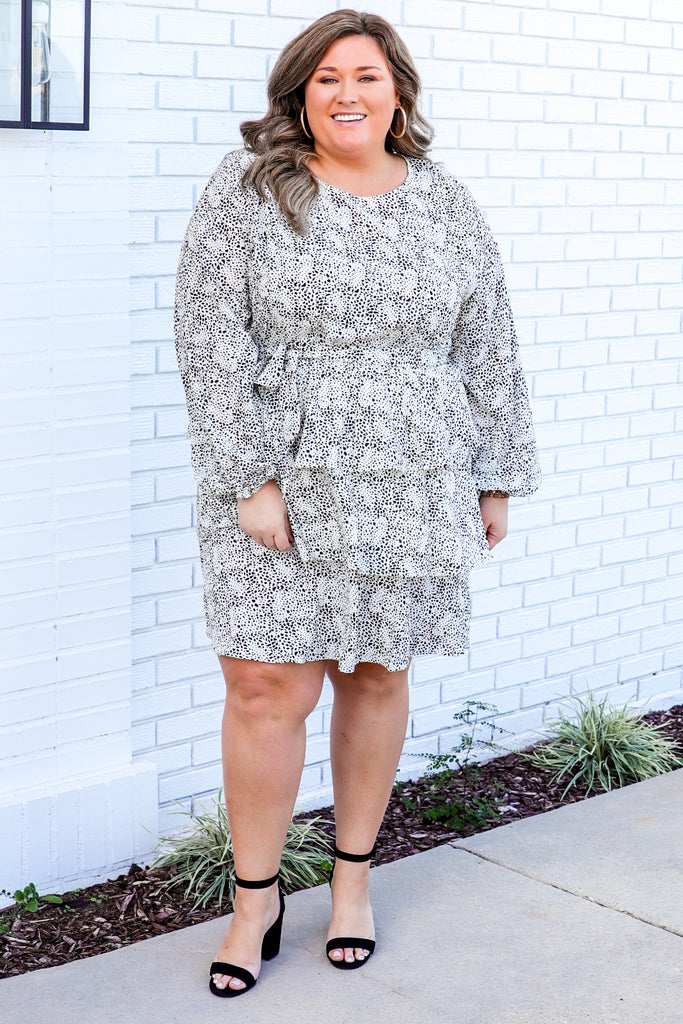 CURVY: Secure Your Place Printed Dress