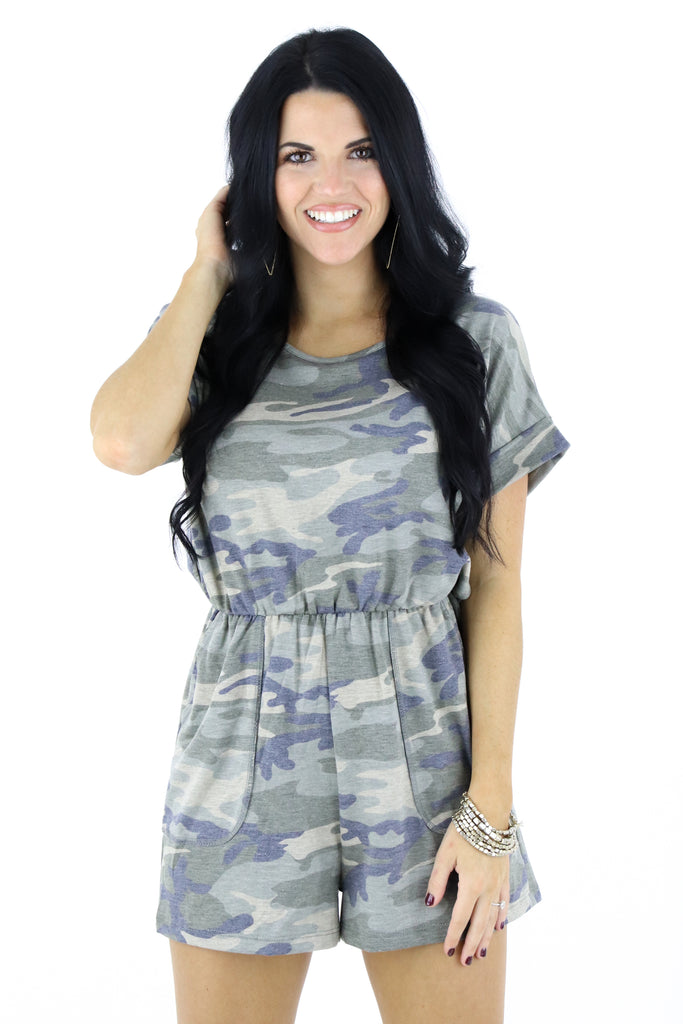 A Wild Night Camouflage Romper