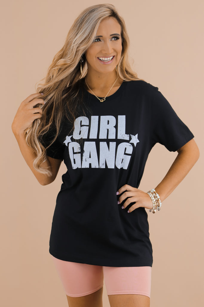 Girl Gang Block Letter Graphic Top
