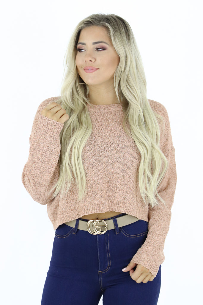 Only Facts Cropped Sweater
