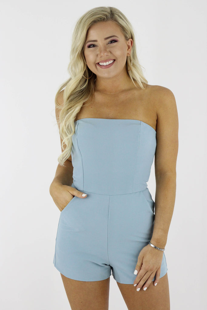 Saved For Later Strapless Romper