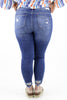 RESTOCK: Curvy: Distress To Impress Mid Rise Crop Skinny