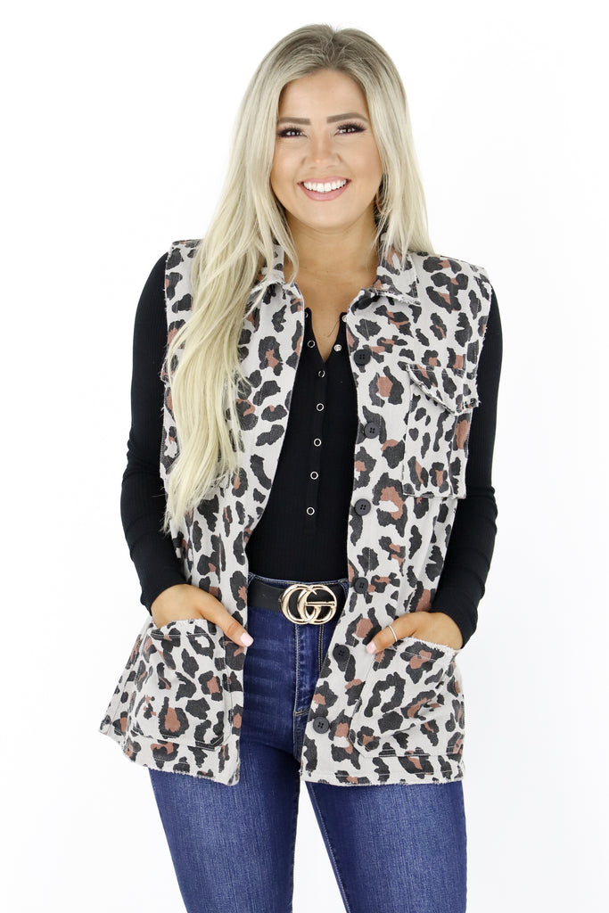 All My Ideas Leopard Vest