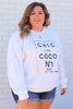 CURVY: Chic Like Coco Graphic Pullover