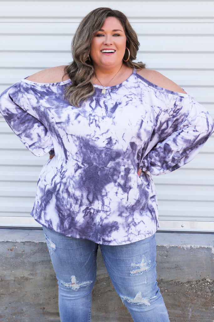 CURVY: My Dearest Friend Cold Shoulder Top