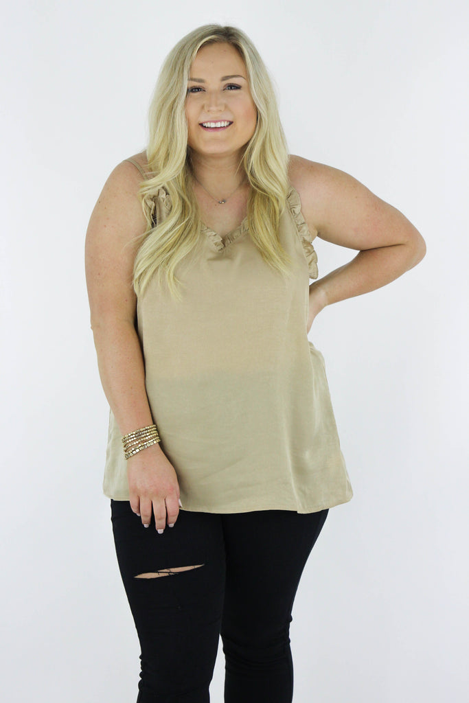 CURVY: Special Moments Ruffle Tank