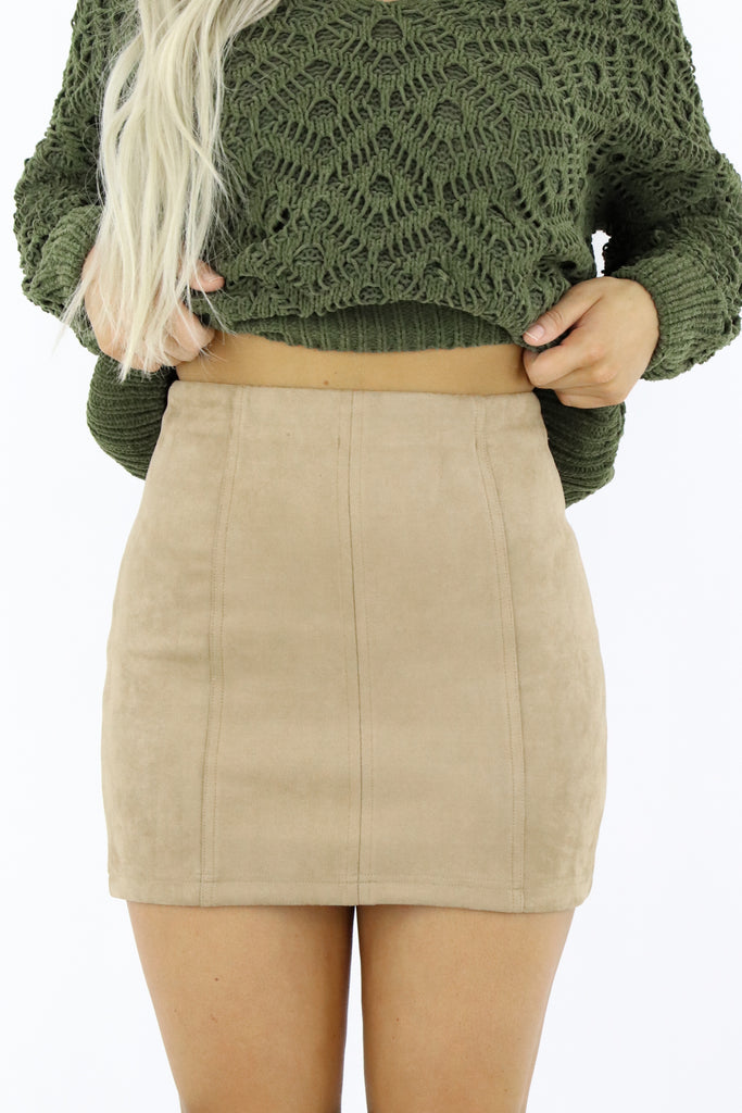Simply Iconic Suede Skirt
