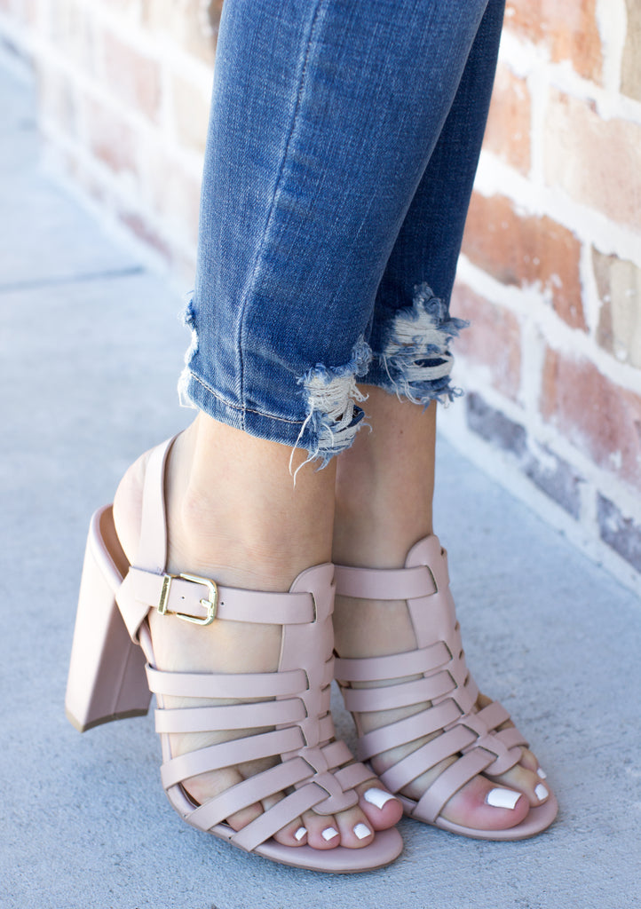 Elegant Edges Strappy Heel