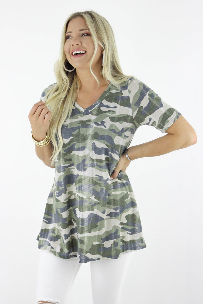 Running For You Camouflage Top
