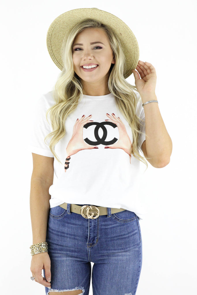 Coco Chanel Hand Painting Graphic T