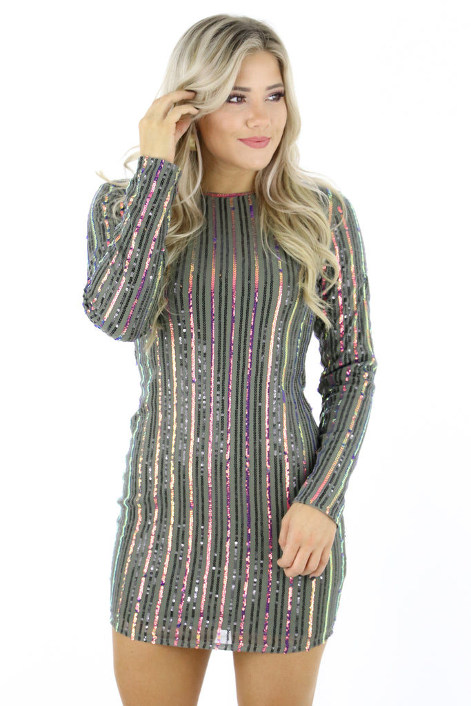 Everything Comes Easy Sequin Dress