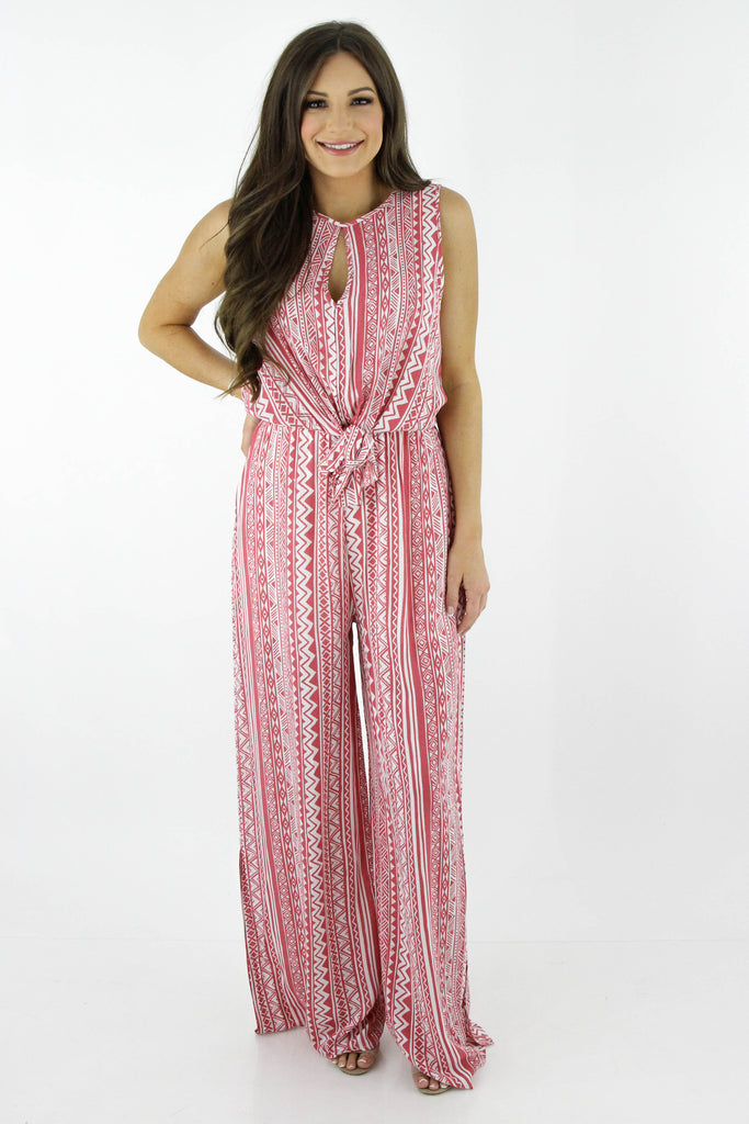 Worth Your While Tribal Print Jumpsuit