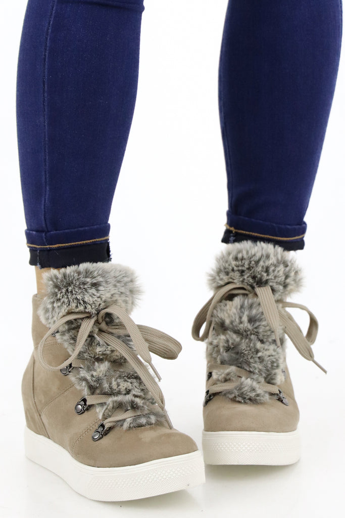 Opened Your Eyes Sneaker Wedges