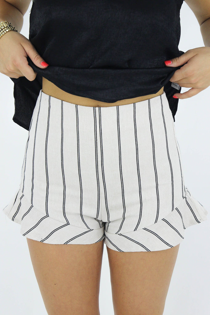 Everything You Want Striped Shorts