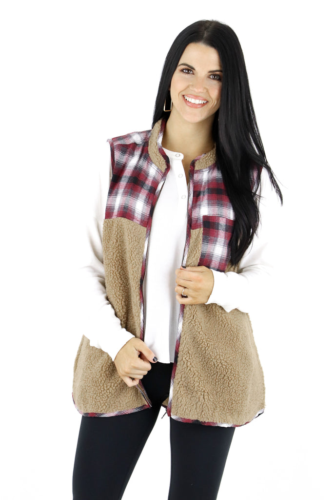 Holiday Spirit Plaid Vest