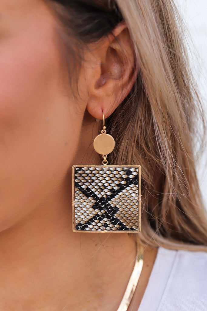 2'' Square Drop Earrings