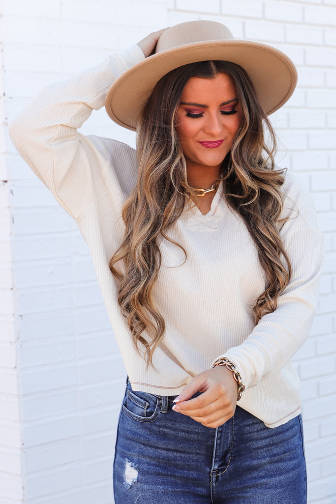 Thriving Daily Waffle Knit Top