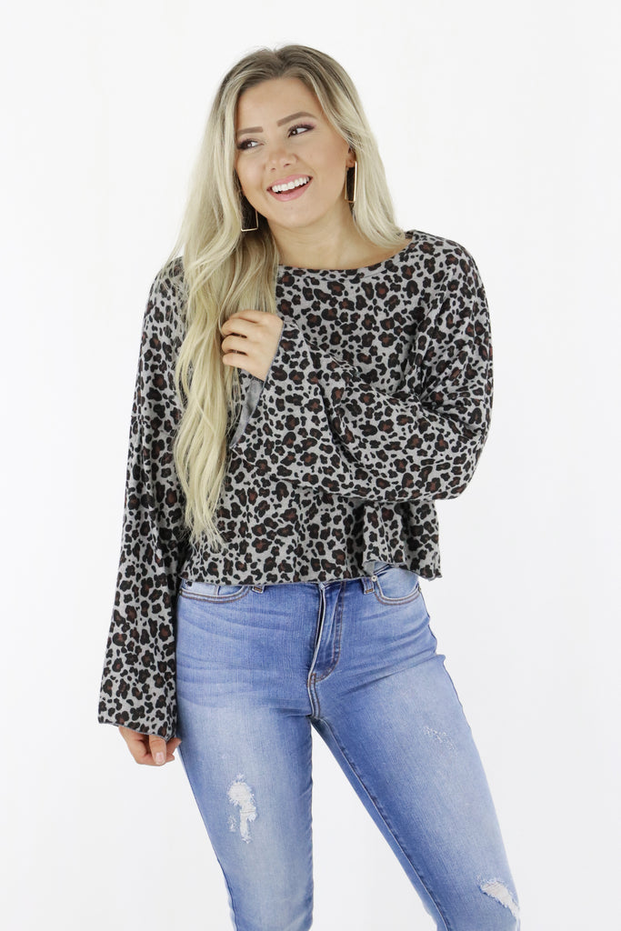 When You Smile Leopard Top