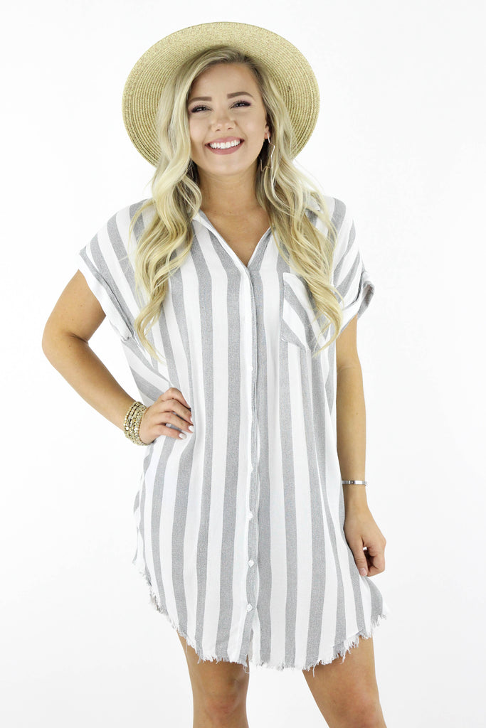 RESTOCK: Run Away With You Button Up Dress