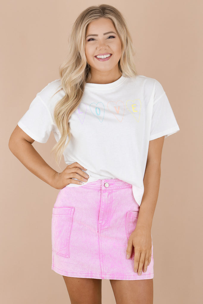 Love From The Heart Graphic Top