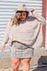 CURVY: I'm All Yours Faux Suede Snake Skirt