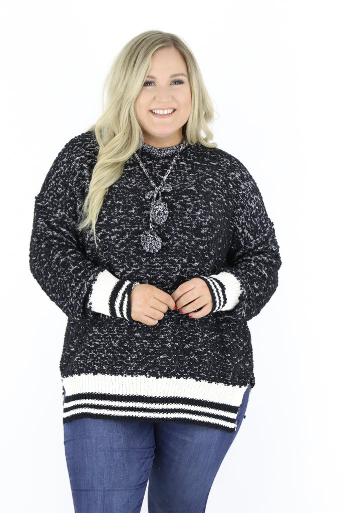 CURVY: Remembering Fall Popcorn Sweater