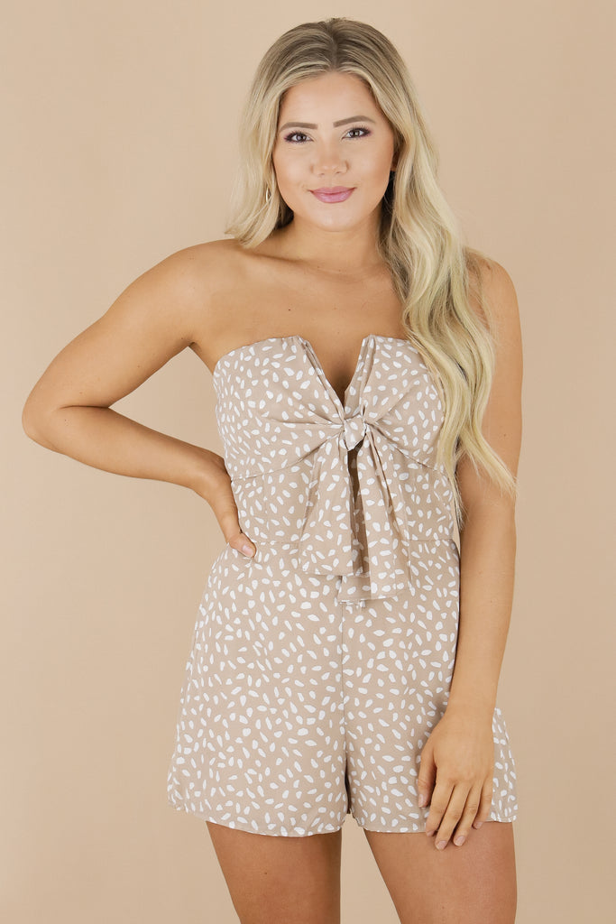 At First Sight Strapless Romper