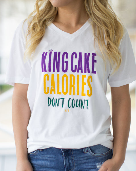 King Cake Calories V Neck