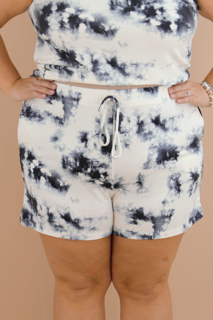 CURVY: The Sky Is The Limit Tie Dye Shorts