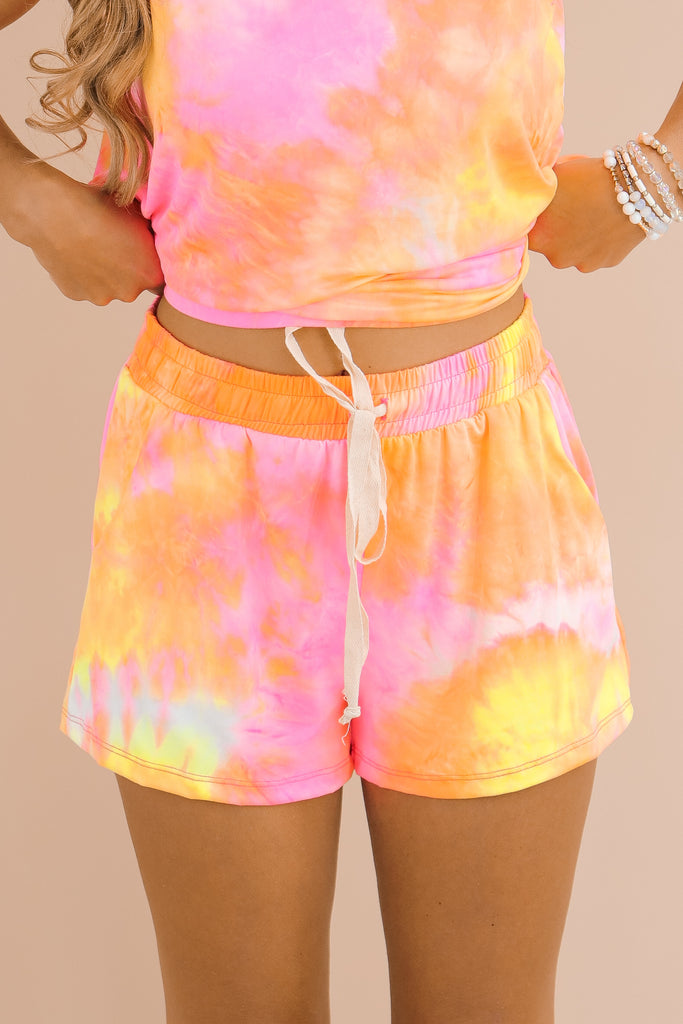 Chasing Sunsets Tie Dye Shorts