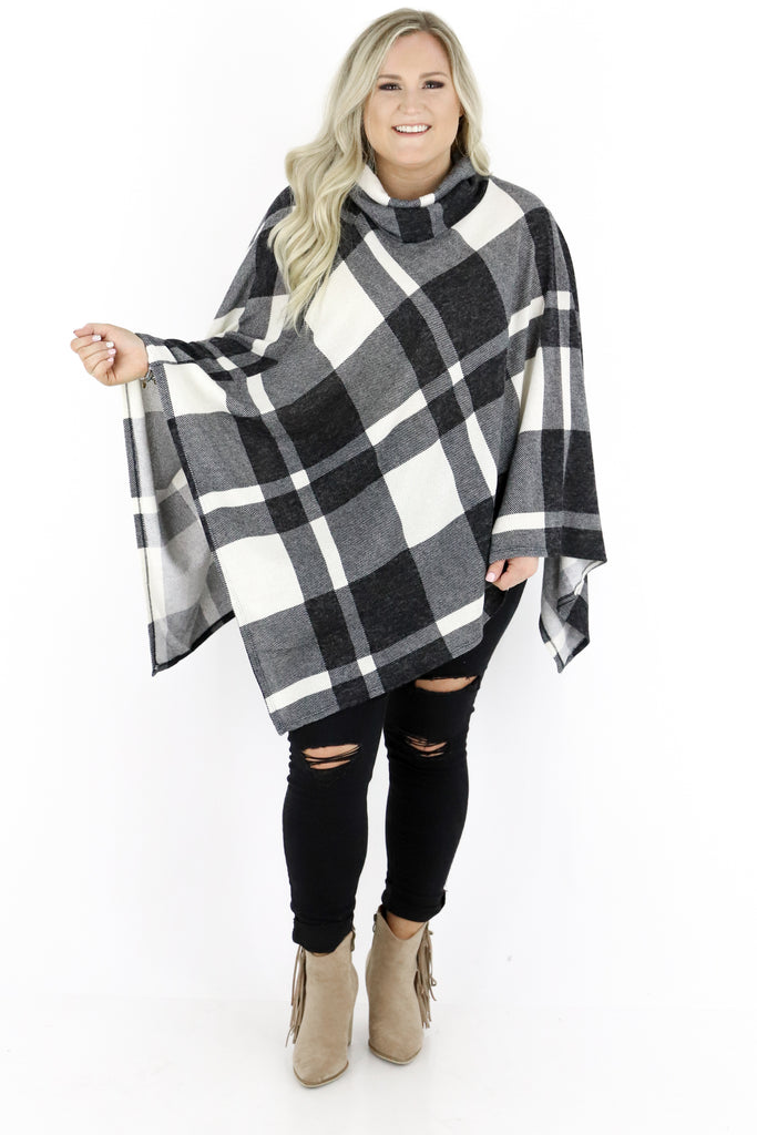 CURVY: On Cloud Nine Plaid Pon