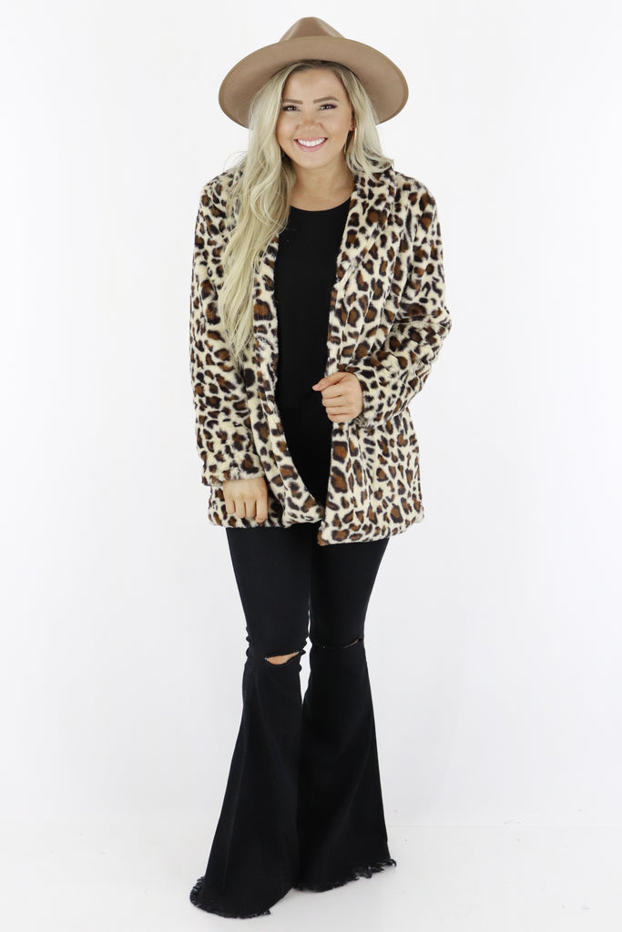 Quite The Charmer Faux Fur Jacket
