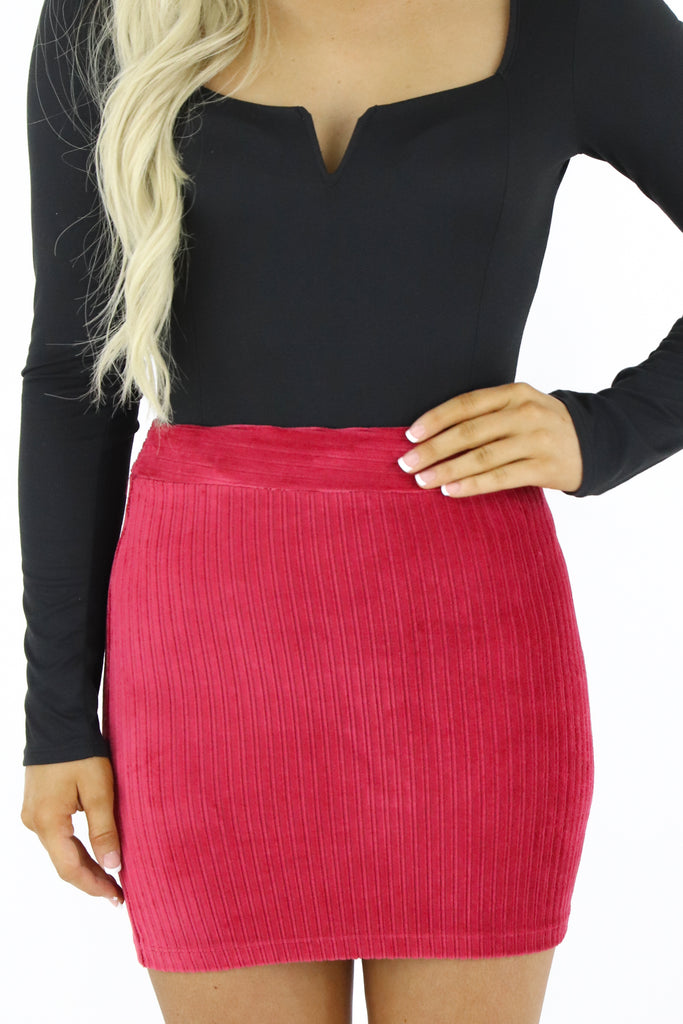 Unlikely Romance Corduroy Skirt