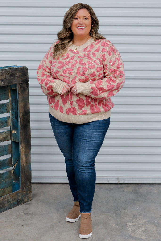 CURVY: My Love For London Leopard Print Sweater