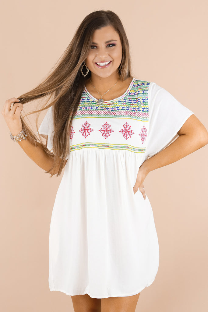 Just Another Love Embroidered Dress