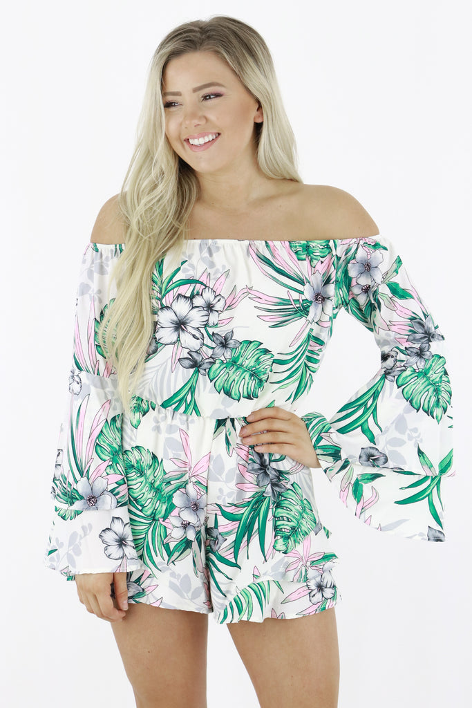 Back In Town Off The Shoulder Romper