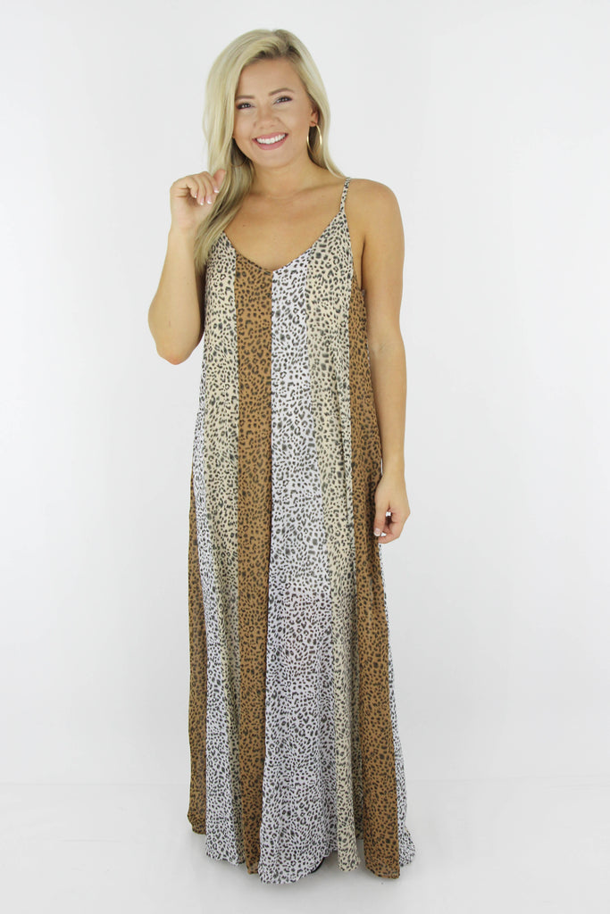 Stop The Flow Of Time Printed Maxi
