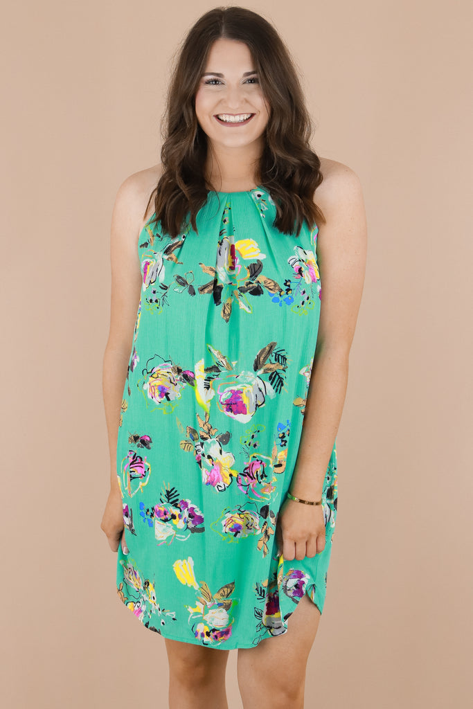 Intrigued By You Floral Dress