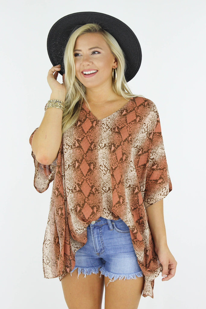 Take It Slow Snake Blouse
