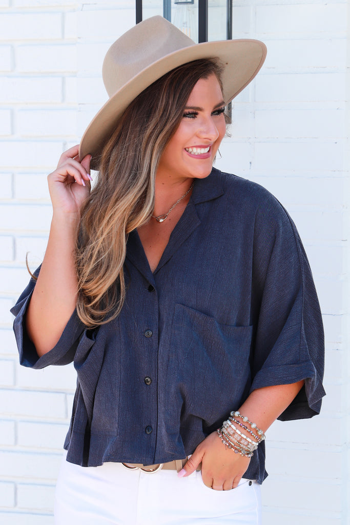 Front And Center Button Down Top