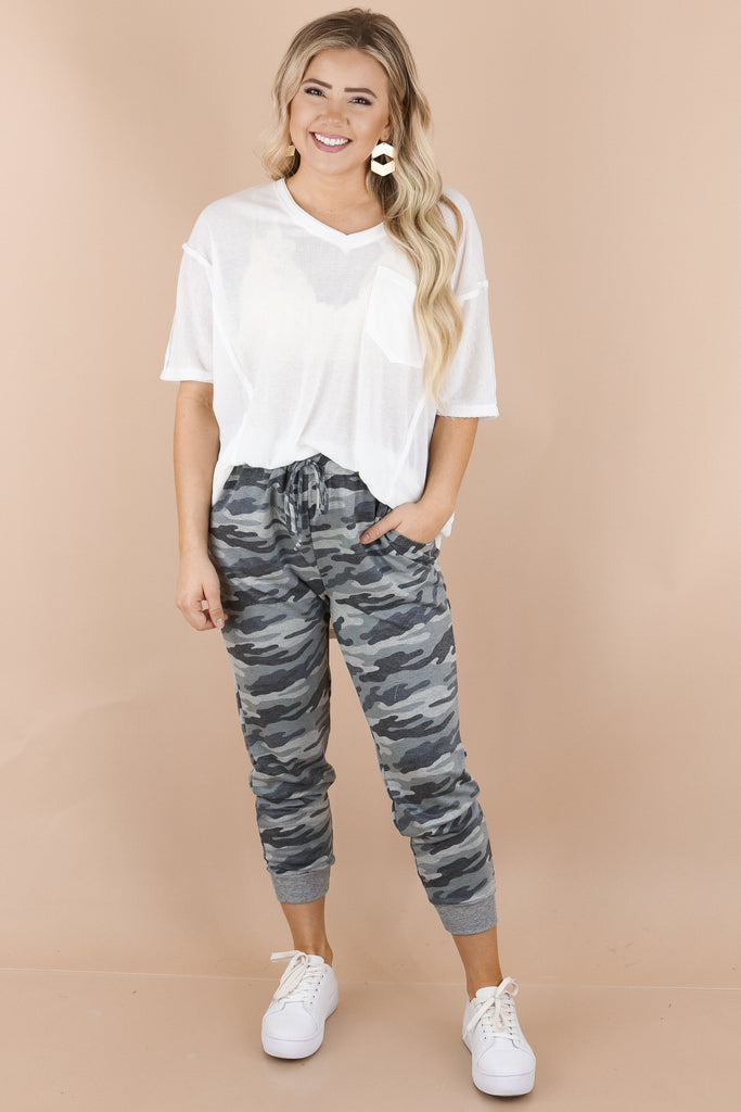 Stays On My Mind Camouflage Joggers