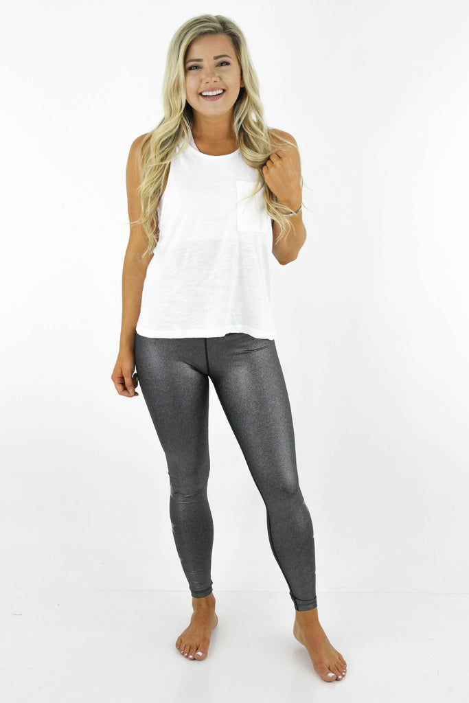 One Workout Away High Waist Star Leggings