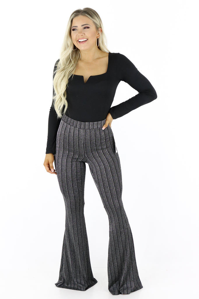 Leave You Speechless Flare Pants