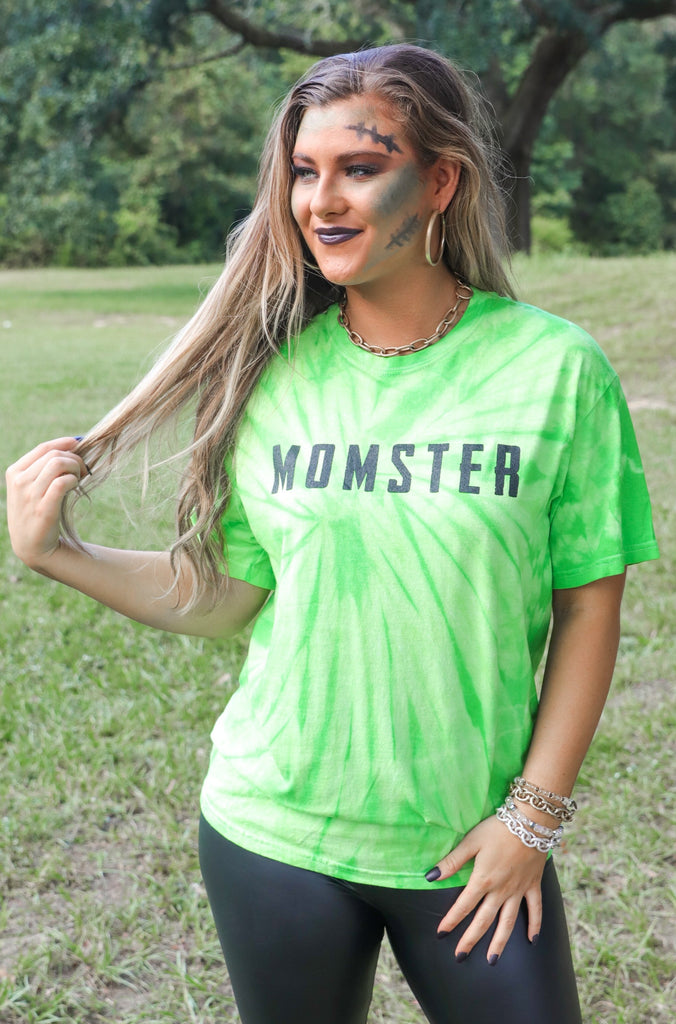 Momster Tie Dye Graphic Top