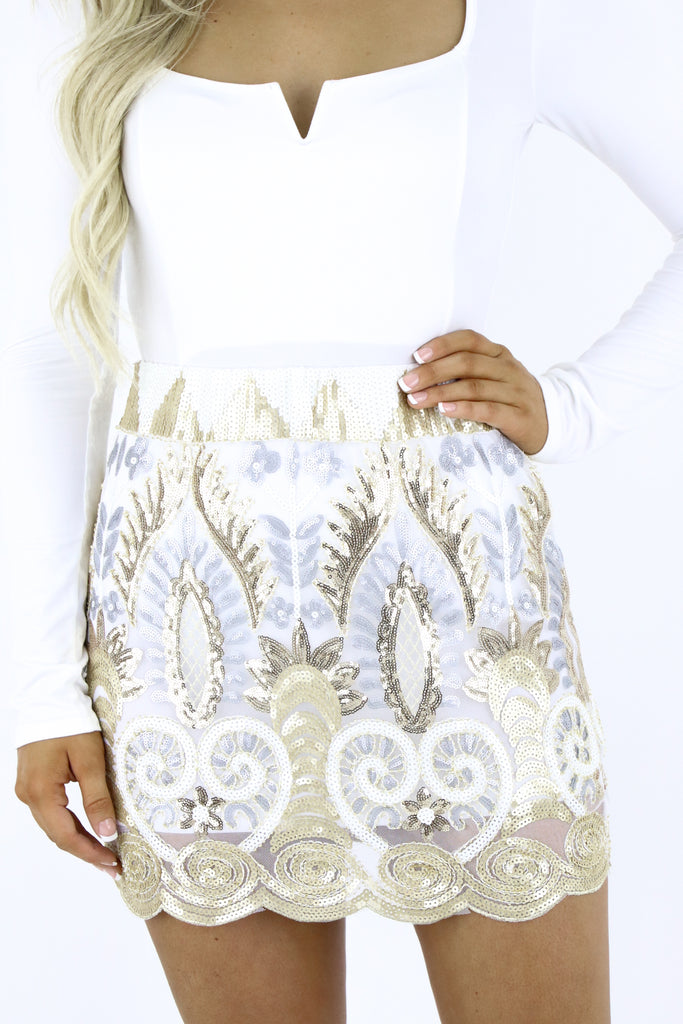 The Glam Era Sequin Skirt
